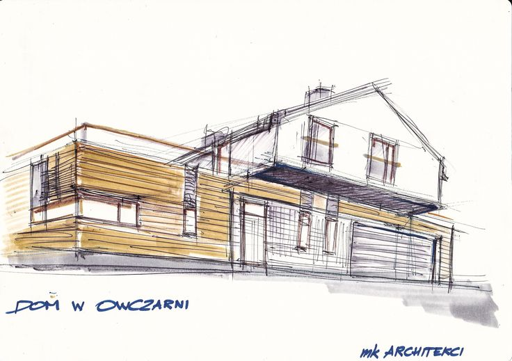 Drawing Architecture Warsaw - design idea Szkic - Architektura Warszawa Koncepcja Pomysł na dobry dom http://www.mkarchitekci.com.pl/