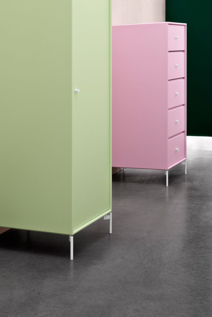 Summer colours. Pistaccio and Candy Floss. #montana #furniture #pink #summer #mint #pistaccio #danish #design