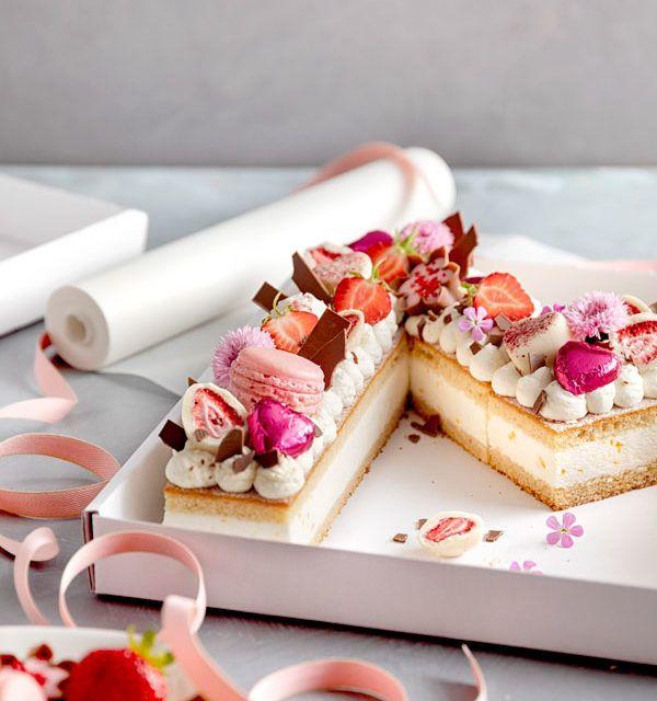 Buchstaben-Torte selbst mit Käse-Sahne-Mandarinen-Basis dekorieren »   – Torten dekorieren
