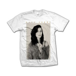Katy Perry Portrait T-Shirt in White printed on 100% Cotton Tee.