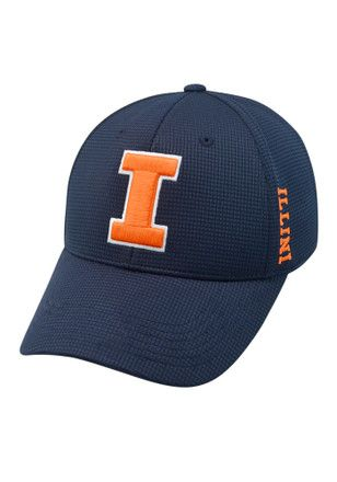 Top of the World Illinois Fighting Illini Mens Navy Blue Booster Plus Flex Hat