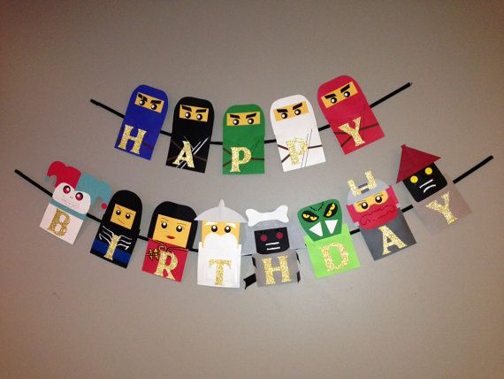 Handmade Ninjago inspired birthday banner by Craftophologie, $45.00