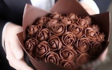 chocolade boeket rozen