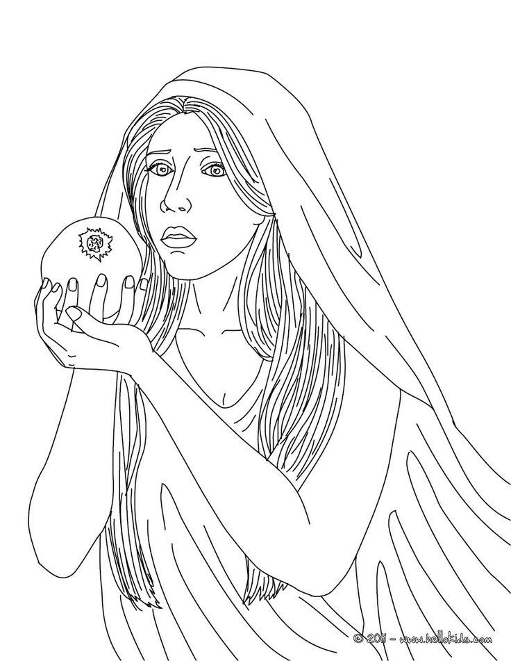 greek goddess gaia coloring pages | PERSEPHONE griechische Fruchtbarkeitsgöttin zum Ausmalen ...