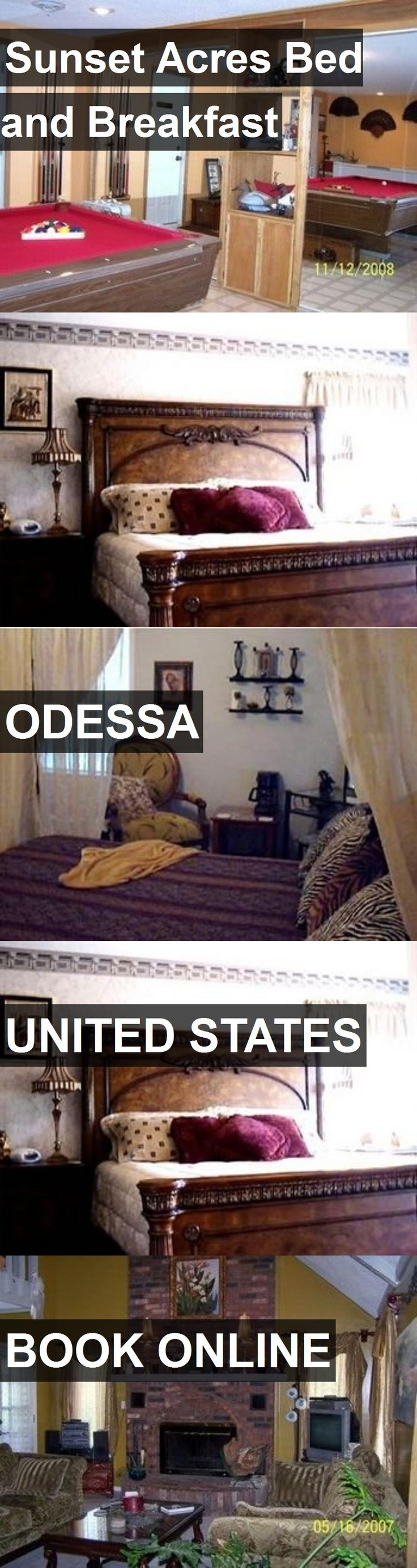 Hotel Sunset Acres Bed and Breakfast in Odessa, United States. For more information, photos, reviews and best prices please follow the link. #UnitedStates #Odessa #SunsetAcresBedandBreakfast #hotel #travel #vacation