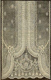 Vintage Ephemera: Nottingham Lace Curtain, 1912