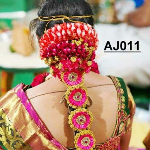 #anooflowerjewellery #indian #wedding #traditional #hairdesigns #beautiful #vibrantcolors #jayaflowerjewellery