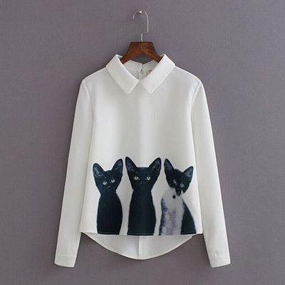 blusas y camisas mujer women tops and blouses 2016 new fashion animal print white blouse vetement femme korean fashion clothing