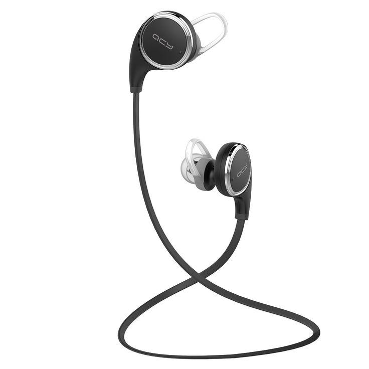 QCY QY8 白黒2色 Bluetooth 4.1 ワイヤレスイヤホン