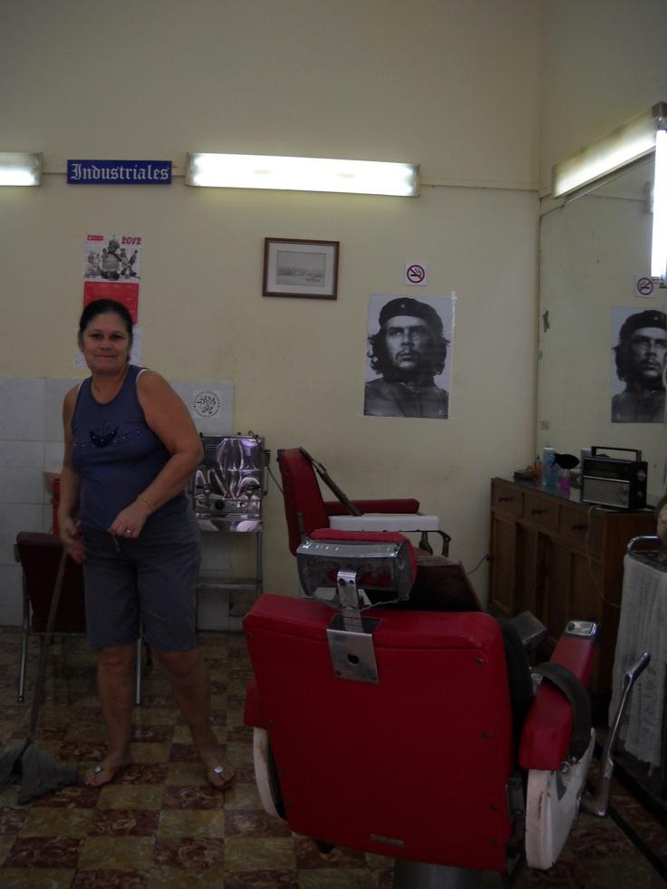A Barber Shop in Old Havana