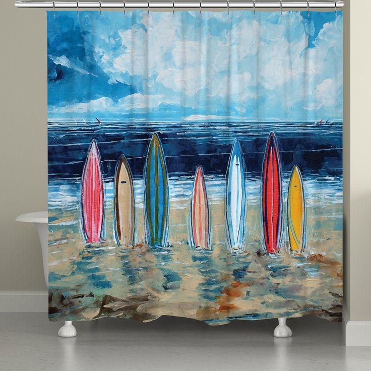 Surfboards Shower Curtain Rustic Bathroom Vanities Bathroom Curtains Curtains