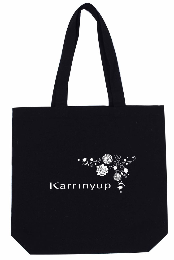 Heavy Cotton / Canvas Tote Black With Bottom Only Can-Tt-Bk-Btm – Promotions247