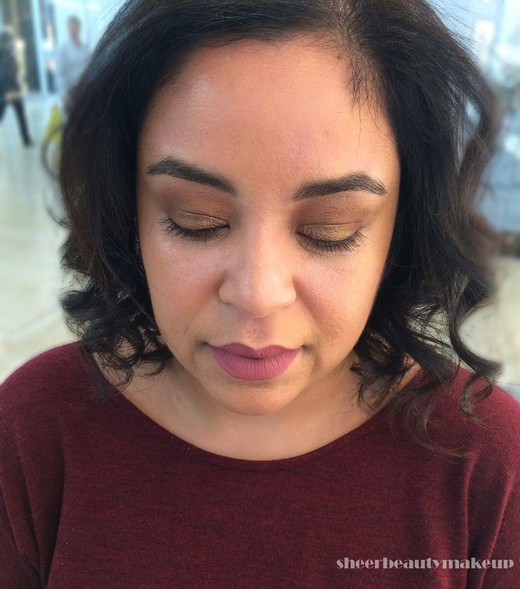 bronze makeup on my beautiful client!