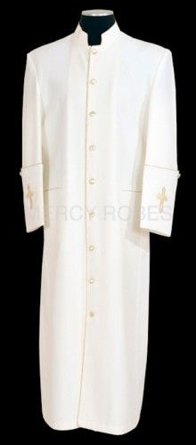 Clergy Robe Style Bae 114 Cream Gold Black Gold White