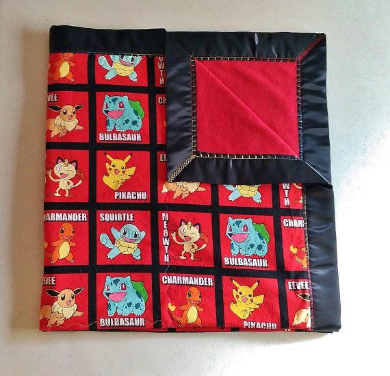 Pokemon Blanket Car Blanket Stroller Blanket Lap Blanket #pokemon , #blanket, #baby, #toddler, #child, #kids, #adult, #stroller, #car, #crib, #bedding, #handmade, #madeinUSA