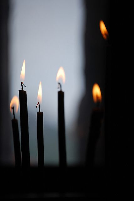 Candles, a prayer, for all we love, for everything and everybody we've lost. A prayer to thank God, for the beauty of life
