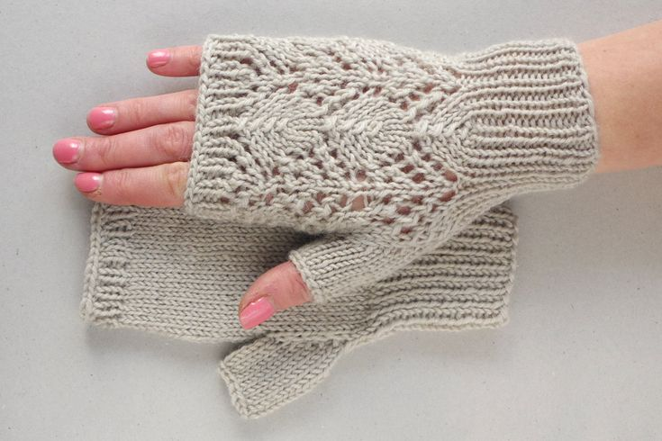 Fingerless gloves, knit lace gloves, gloves for women, gray wool mittens, fingerless mittens, gloves women, knitted mittens, hand warmers by ESTtoYou on Etsy