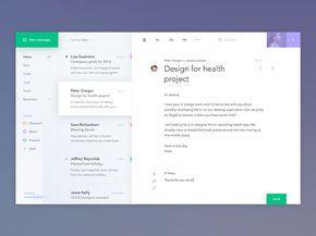 Email Application Design Inspiration — December 2016 – Collect UI Design, UI / UX Inspiration Blog – Medium