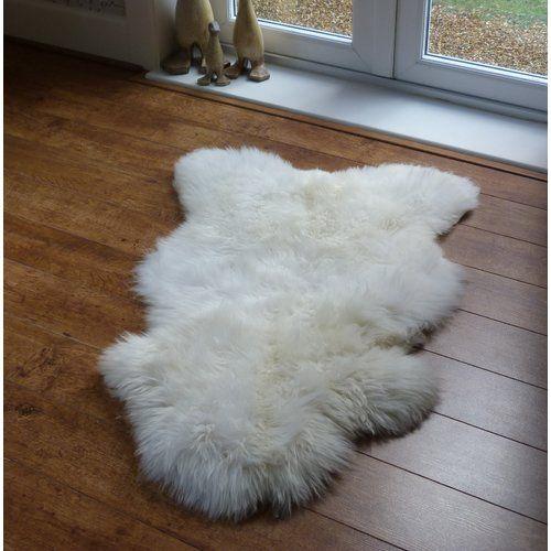 Keyon Sheepskin Ivory White Rug Brick
