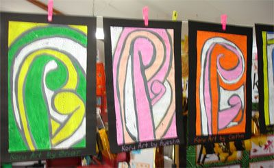 New Zealand Maori Koru Art Lesson Plan: Multicultural Art and Craft Lessons for Kids: KinderArt ®
