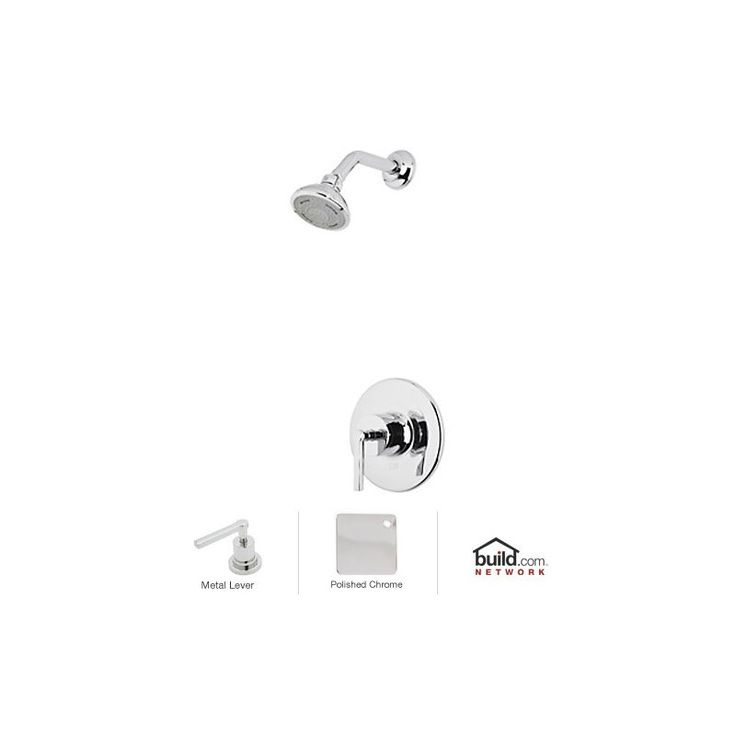 Rohl LOKIT20LM Lombardia Shower System with Shower Head Shower Arm and Valve T Polished Chrome Faucet Shower System Single Handle