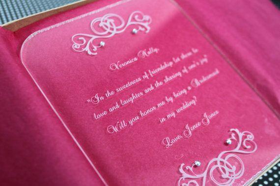 Honor Or Honour On Wedding Invitations: Best 25+ Bridesmaid Invitation Box Ideas On Pinterest