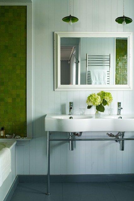 green emery cie tiles with double basin bathroom design ideas houseandgardenco