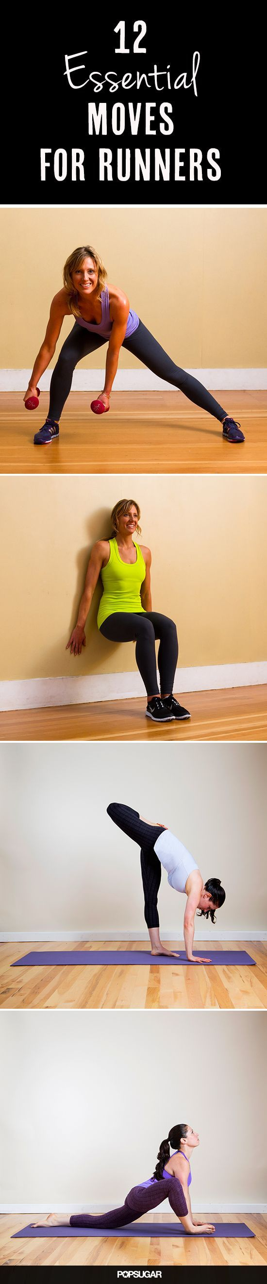 12 Essential Moves for Runners | Moves to try for runners and aspiring runners. #youresopretty