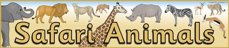 Safari Animals display banner