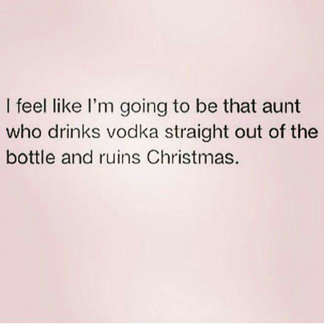 Ummmm..I am that Aunt!! I'm just not the Aunt that ruins Christmas!!
