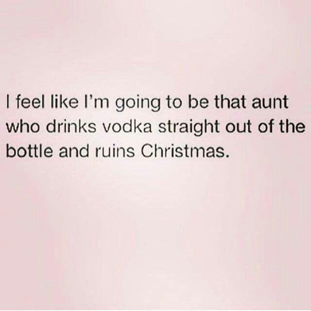 Ummmm..I am that Aunt!! I'm just not the Aunt that ruins Christmas!!