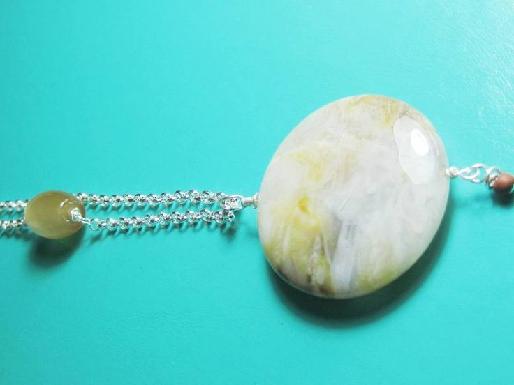 Flower jasper + Botswana Agate Chakra necklace One of a kind