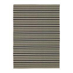 "BJÖRNLOKA rug, flatwoven, black, beige Length: 7 ' 10 "" Width: 5 ' 7 "" Surface density: 4 oz/sq ft Length: 240 cm Width: 170 cm Surface density: 1230 g/m²"