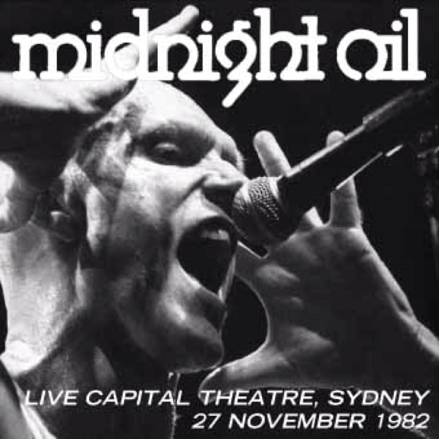 Midnight Oil...they had their own horn player...I was born in the wrong decade....