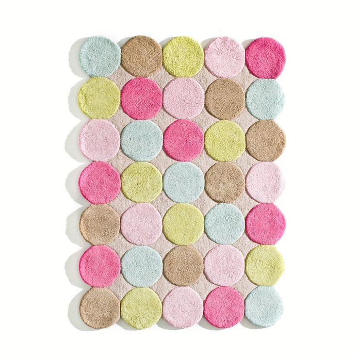 tapis enfant coton tuft pois multicolores nikka la redoute interieurs la redoute - Prix Tapis Enfant Conforama