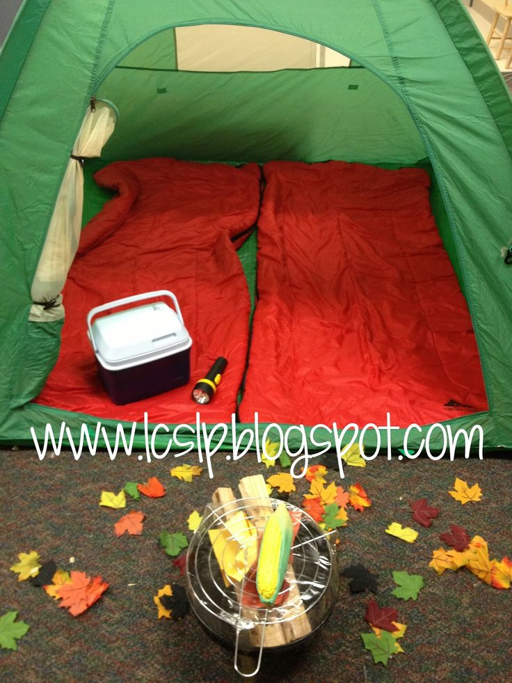 camping and other great dramatic play area ideas