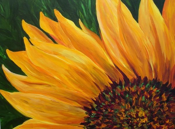 Sunflower Oil Painting Sun Search And Sun Flowers