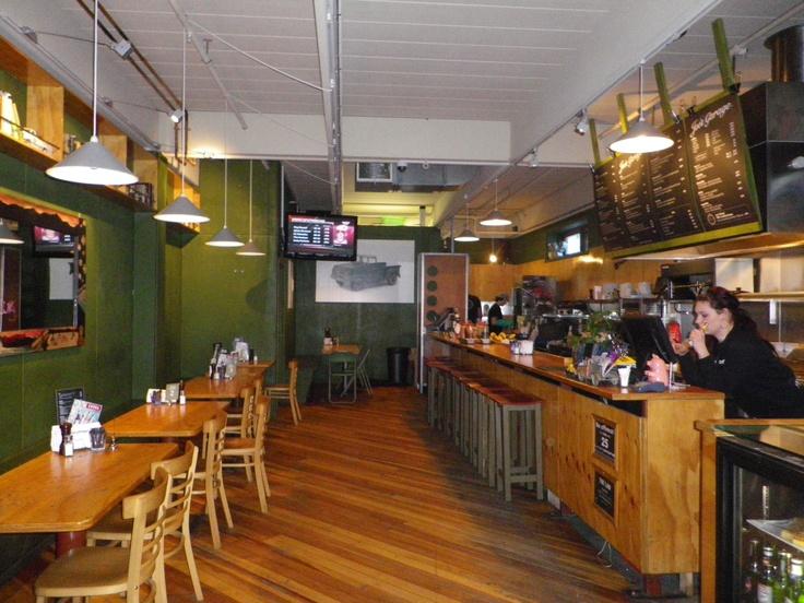 Joe's Garage, Queenstown NZ - great bratwurst and coffee!