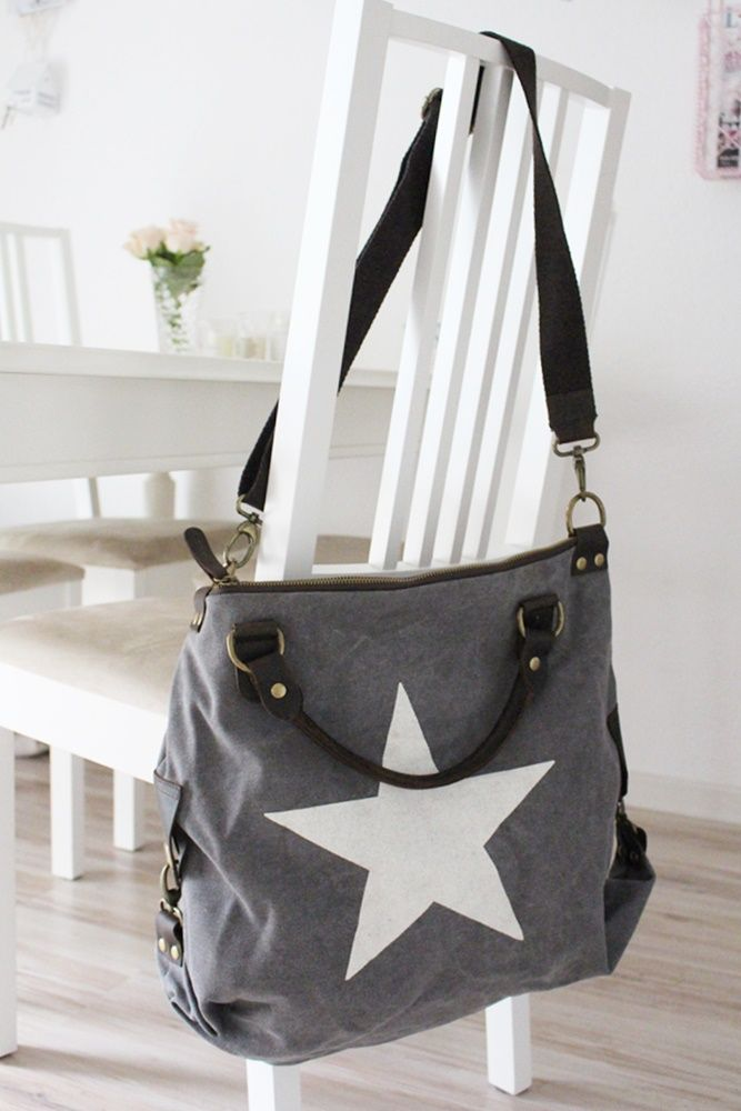 deinlieblingsladen tasche big star canvas grey tasche. Black Bedroom Furniture Sets. Home Design Ideas