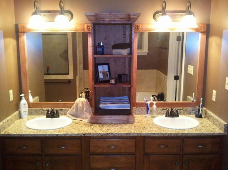 I Used This Idea And Revamped My Large Bathroom Mirror This Weekend. Here  Are My Photos.