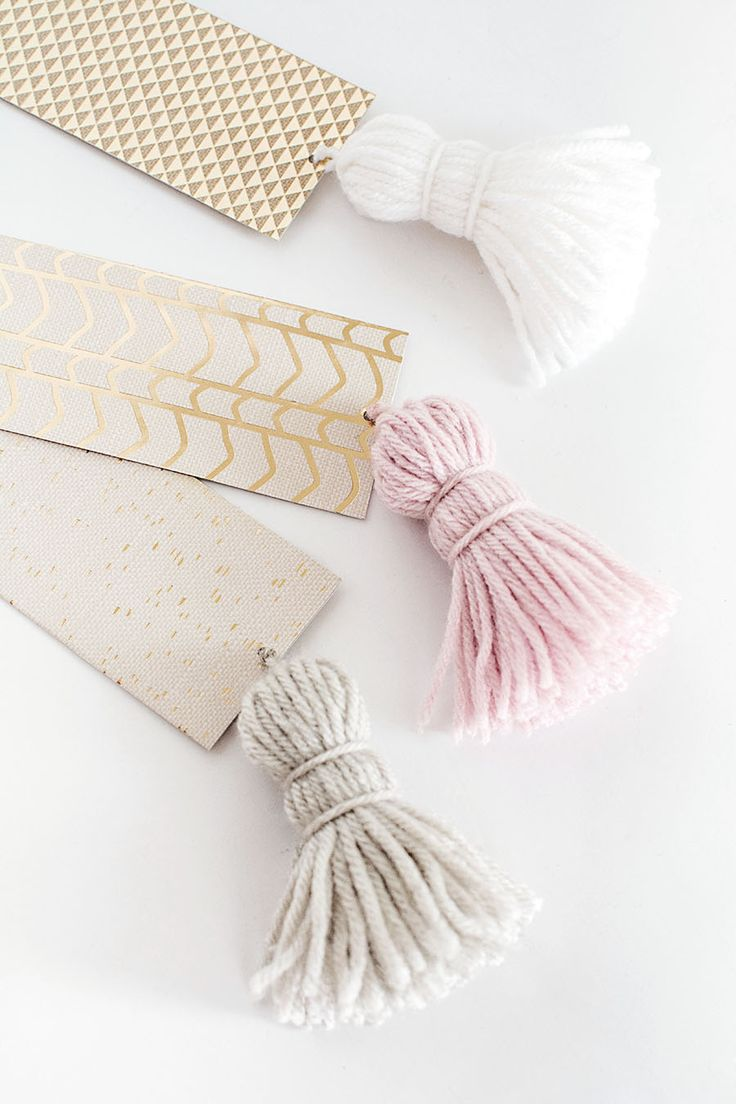 DIY Chunky Tassel Bookmarks - Homey Oh My!