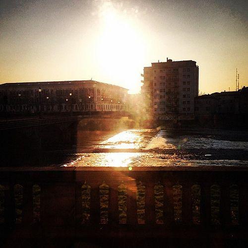 Oggi pomeriggio riflessi dorati sul Lungoparma...   Flickr – Condivisione di foto!