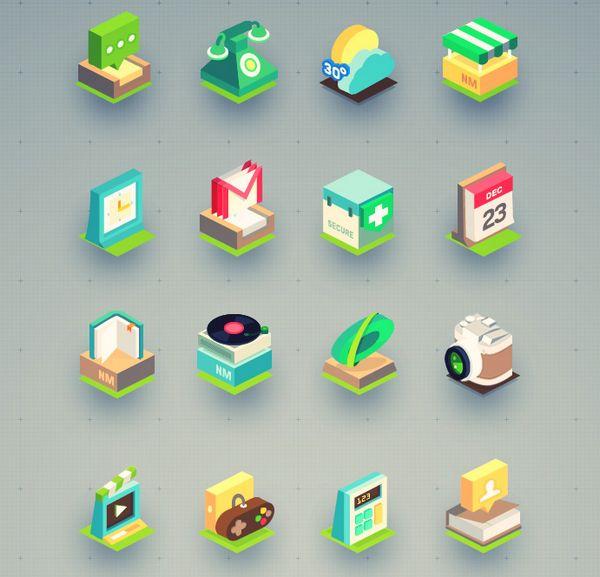 Free Isometric Icons