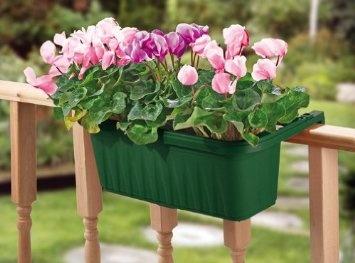 apollo plastics adj20 green adjustable deck rail planter green 20 inch length. Black Bedroom Furniture Sets. Home Design Ideas