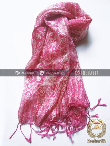 Selendang Batik Murah Grosir Warna Pink | #Indonesia #Batik #Scarves Shawl Wholesale http://thebatik.co.id/syal-selendang-batik/