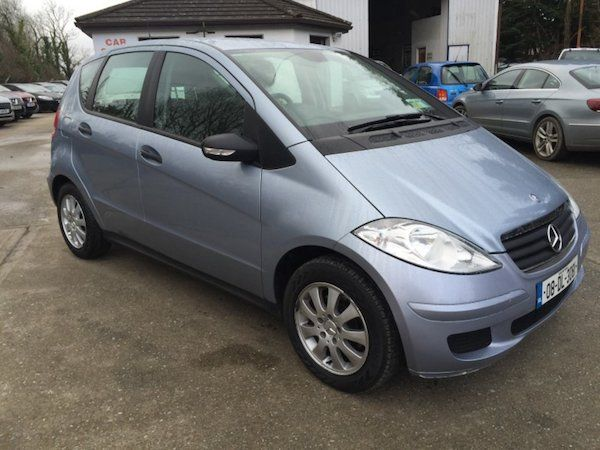 Mercedes-Benz A-Class Mercedes A150 5DR Auto Nct 4/18 Tax 7/17Mercedes A150 Automatic 5 door hatchback only 45321 miles nct 4/18 Tax 7/17 fully serviced good tyres in inaculate condition fully valeted may take trade in 08 (2008)Features:- Adjustable seats- Adjustable steering column/wheel- Armrest- CD player- Climate Control- Electric Windows- Front Restraints- Heated screen- Height adjustable drivers seat- Lumbar Support- Onboard Computer- Power Steering- Radio/CD/MP3- Rear headrests…