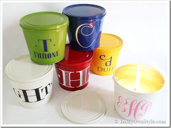 summer hostess gift ... monogrammed citronella candles