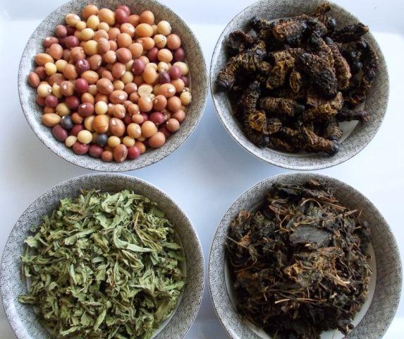 Africa dishes   Morogo n tomatoes Creamed spinach Morogo Mutton stew n morogo
