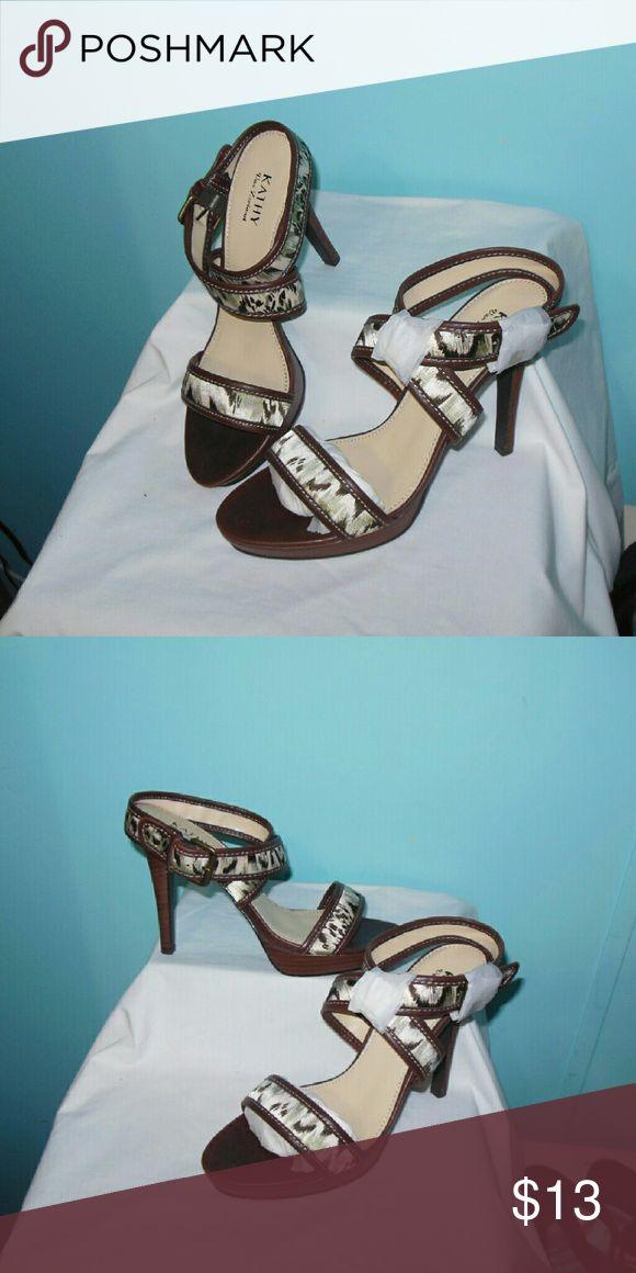 CLEARANCE!!! Kathy Van Zeeland Animal Print Heels Brand new beautiful  5 inch heels, never worn Kathy Van Zeeland Shoes Heels