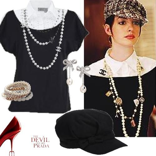 anne hathaway the devil wears prada outfits